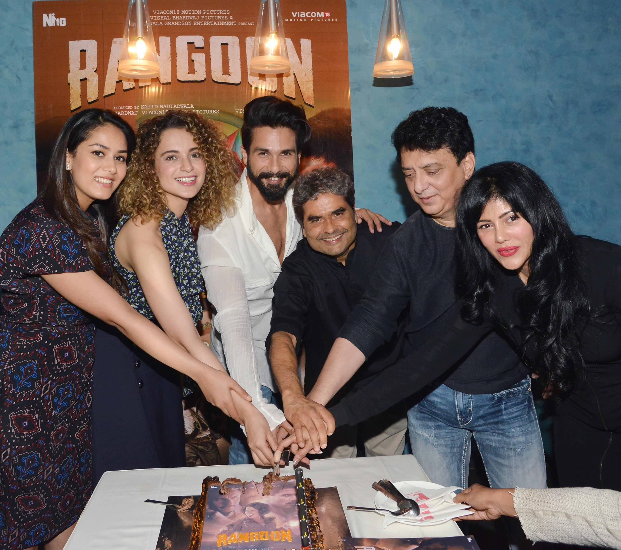 Screening of Rangoon movie stars Kangana Ranaut and Shahid Kapoor produced by Sajid Nadiadwala